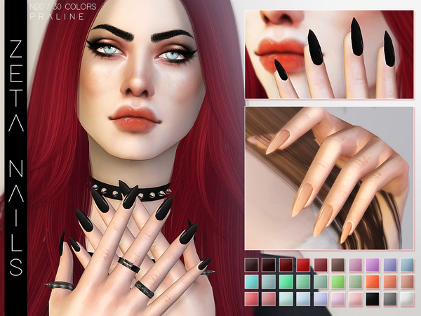 Zeta Nails by Pralinesims at TSR image 472 Sims 4 Updates