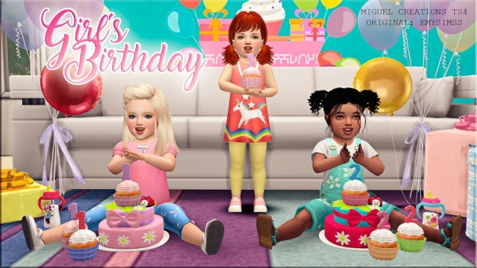 Girl´s Birthday set at Victor Miguel image 4731 670x377 Sims 4 Updates