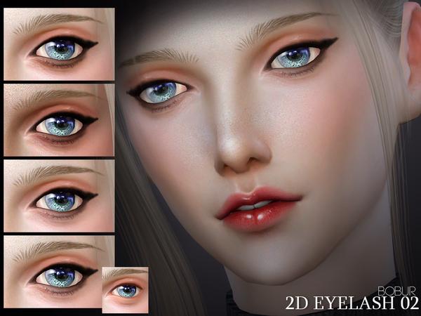 Sims 4 2D Eyelash 02 by Bobur3 at TSR