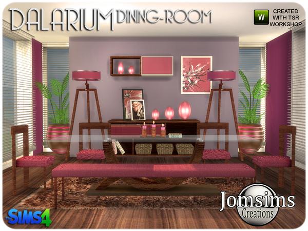 Dalarium Dining Room by jomsims at TSR image 485 Sims 4 Updates