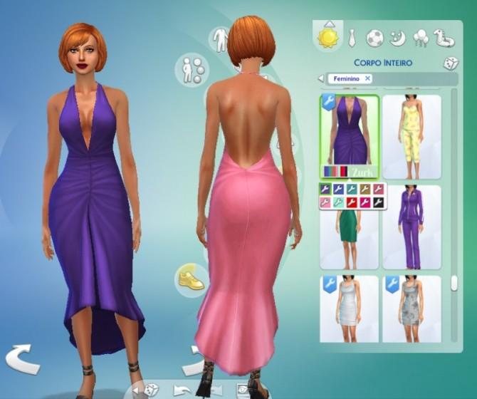 Glamour Dress Conversion at My Stuff image 487 670x560 Sims 4 Updates