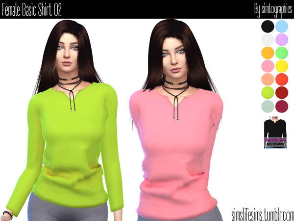 Basic Shirt 02 by simtographies at TSR image 4919 Sims 4 Updates