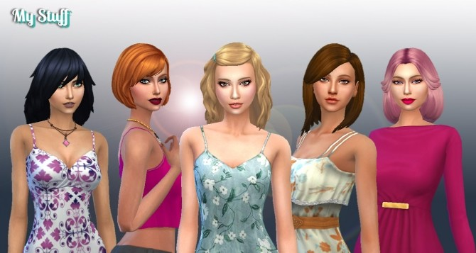 Medium Hair Pack 7 at My Stuff image 4921 670x357 Sims 4 Updates