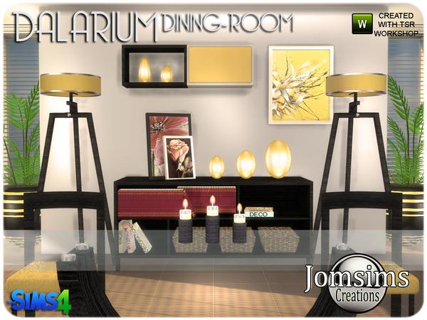 Dalarium Dining Room by jomsims at TSR image 495 Sims 4 Updates