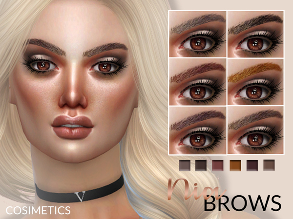 Sims 4 Nia Brows by cosimetics at TSR