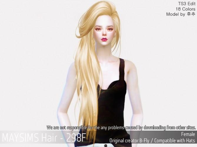 Hair 298F (B fly) at May Sims image 5041 670x503 Sims 4 Updates