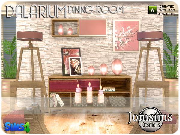 Dalarium Dining Room by jomsims at TSR image 505 Sims 4 Updates