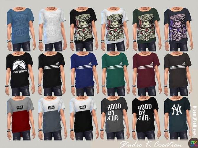 Giruto 33 Loose tee for male at Studio K Creation image 506 670x502 Sims 4 Updates