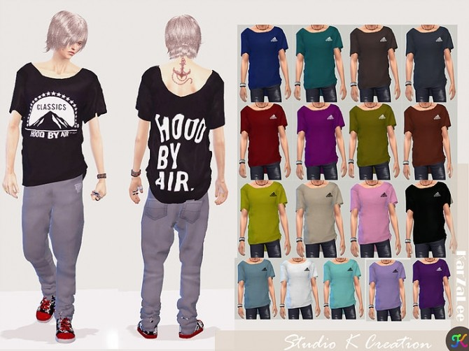 Giruto 33 Loose tee for male at Studio K Creation image 507 670x502 Sims 4 Updates
