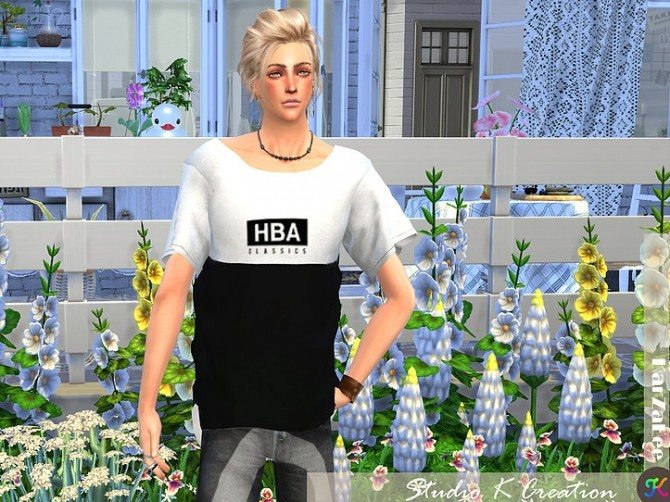 Giruto 33 Loose tee for male at Studio K Creation image 508 670x502 Sims 4 Updates