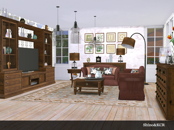 Living Pottery Barn by ShinoKCR at TSR image 516 Sims 4 Updates