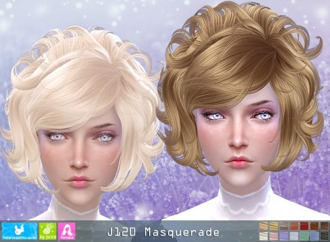 J120 Masquerade hair (Pay) at Newsea Sims 4 image 521 670x491 Sims 4 Updates