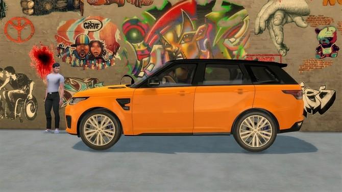 Sims 4 Range Rover Sport SVR at LorySims