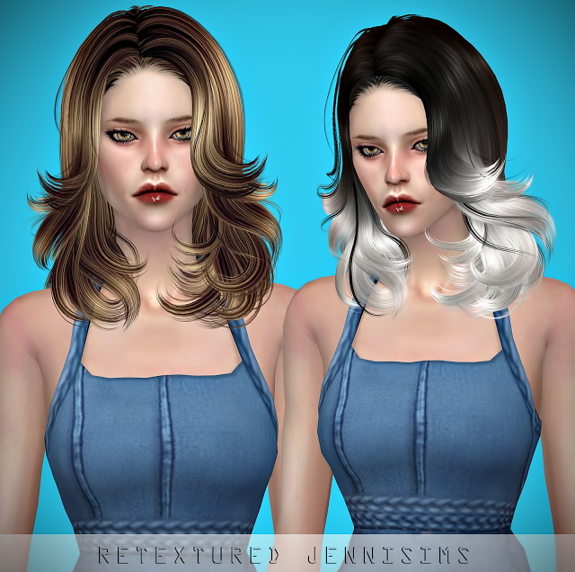 Newsea Badger Game Hair retexture at Jenni Sims image 5241 Sims 4 Updates