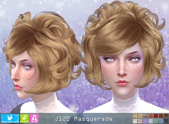 J120 Masquerade hair (Pay) at Newsea Sims 4 image 531 670x491 Sims 4 Updates