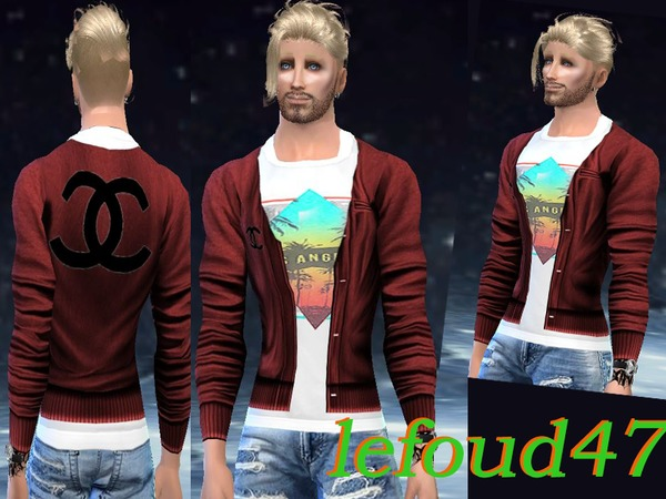 Red jacket by ludovicbouquinaud at TSR image 5316 Sims 4 Updates