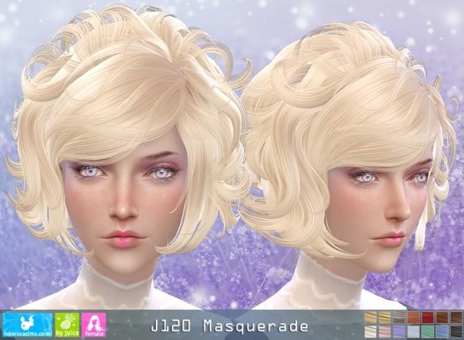 Sims 4 J120 Masquerade hair (Pay) at Newsea Sims 4