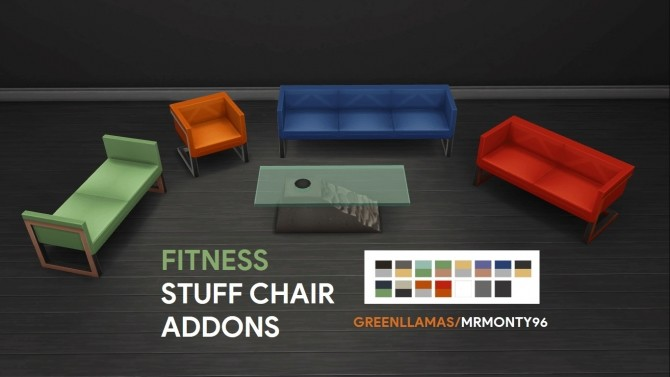 Sims 4 Fitness Stuff Chair Addons by MrMonty96 at Mod The Sims