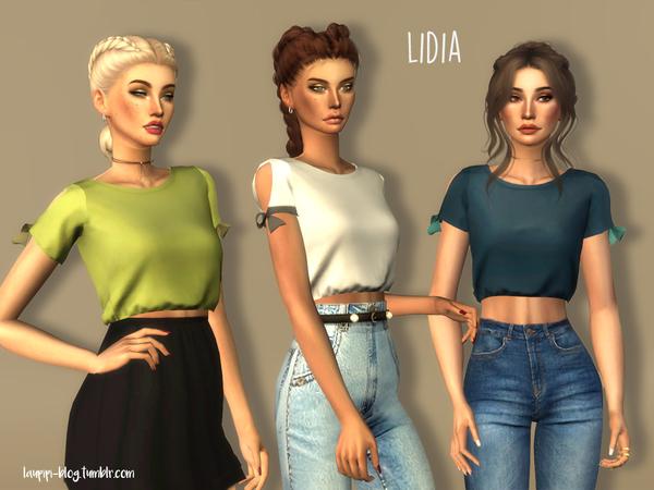 Sims 4 Lidia t shirt by laupipi at TSR