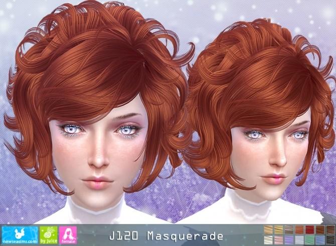 J120 Masquerade hair (Pay) at Newsea Sims 4 image 551 670x491 Sims 4 Updates