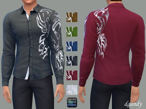 Sims 4 Long Sleeve Shirt D by dgandy at TSR
