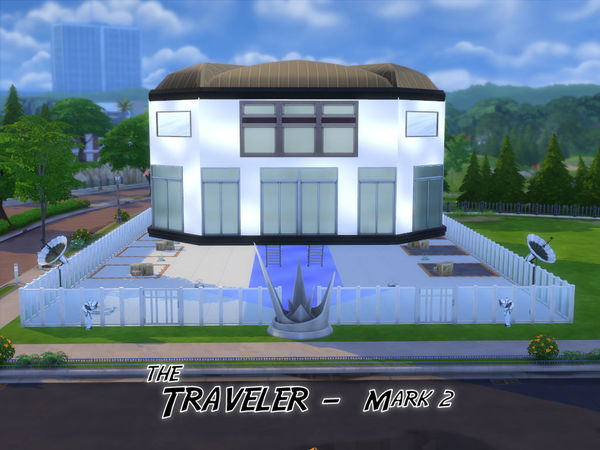 The Traveler Mark 2 house by SimElaine at TSR image 553 Sims 4 Updates