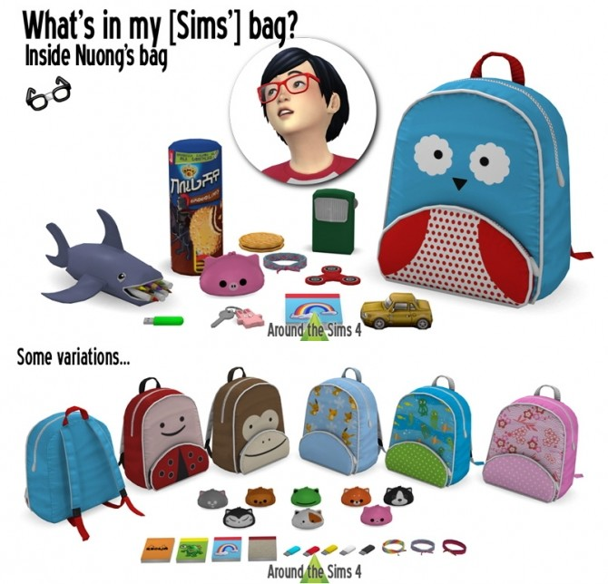 Handbag clutter Nuong by Sandy at Around the Sims 4 image 561 670x644 Sims 4 Updates