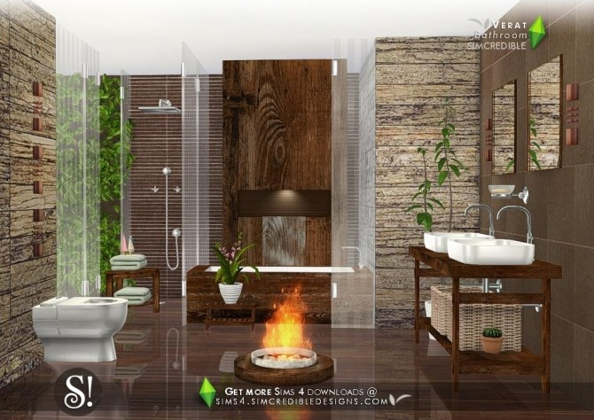 Verat luxury bathroom at SIMcredible! Designs 4 image 5611 670x474 Sims 4 Updates
