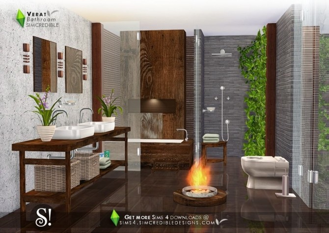 Verat luxury bathroom at SIMcredible! Designs 4 image 5621 670x474 Sims 4 Updates