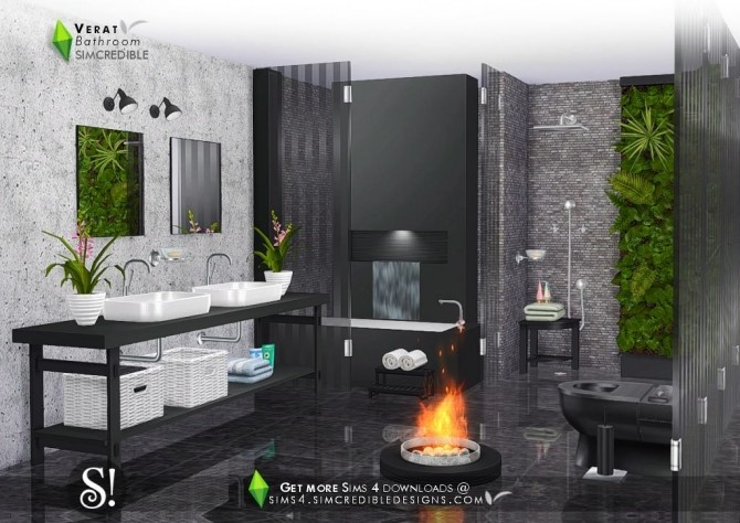 Verat luxury bathroom at SIMcredible! Designs 4 image 5641 670x474 Sims 4 Updates