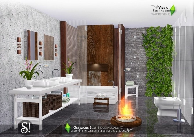 Verat luxury bathroom at SIMcredible! Designs 4 image 5651 670x474 Sims 4 Updates