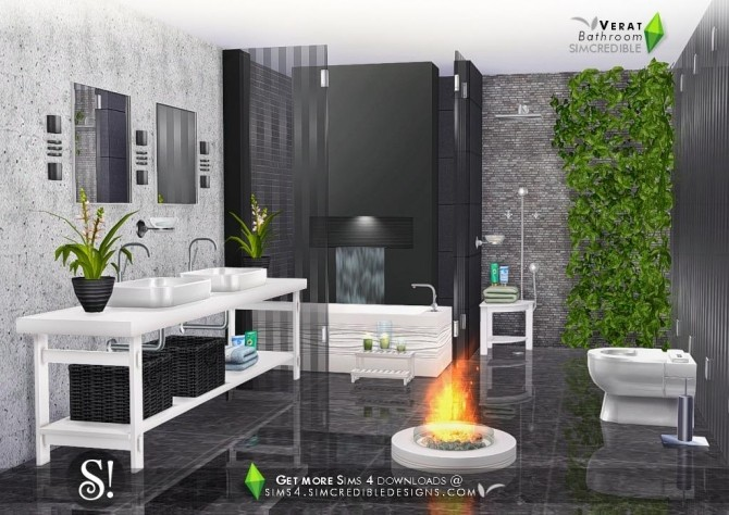 Verat luxury bathroom at SIMcredible! Designs 4 image 570 670x474 Sims 4 Updates