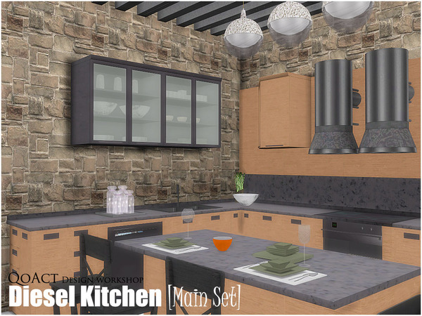Diesel Kitchen by QoAct at TSR image 5715 Sims 4 Updates
