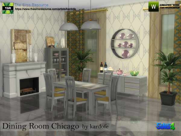 Dining Room Chicago by kardofe at TSR image 580 Sims 4 Updates