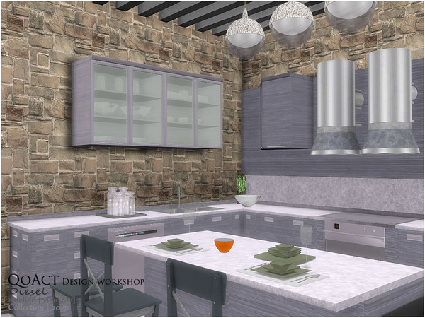 Diesel Kitchen by QoAct at TSR image 5813 Sims 4 Updates