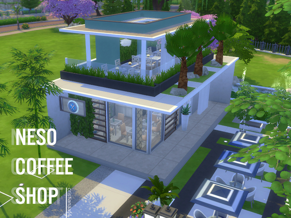 Neso Coffee Shop by cristianaaf4 at TSR image 592 Sims 4 Updates