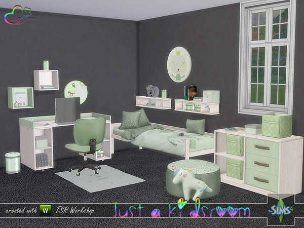 Sims 4 Just A Kidsroom by BuffSumm at TSR