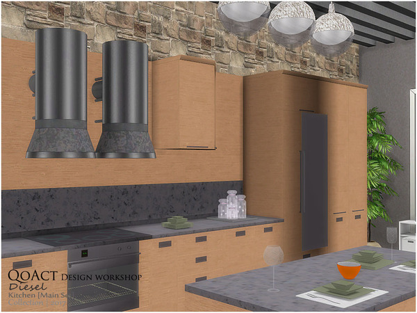 Diesel Kitchen by QoAct at TSR image 6013 Sims 4 Updates