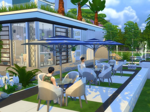 Neso Coffee Shop by cristianaaf4 at TSR image 603 Sims 4 Updates