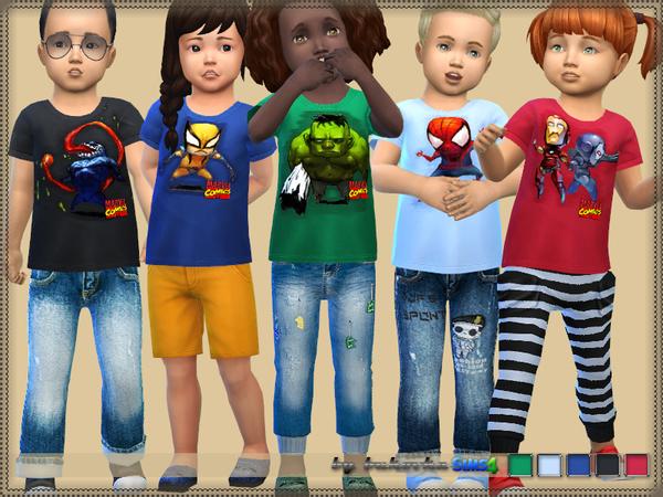 Sims 4 Shirt Marvel by bukovka at TSR
