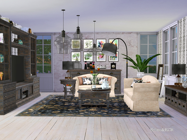 Living Pottery Barn by ShinoKCR at TSR image 616 Sims 4 Updates