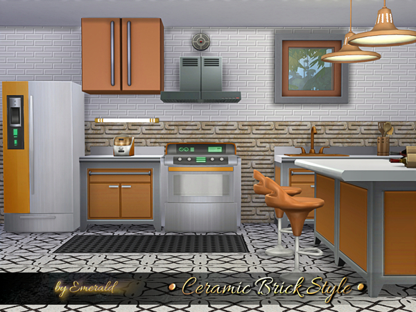 Ceramic Brick Style by emerald at TSR image 618 Sims 4 Updates