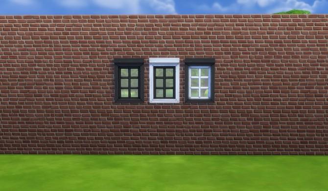 Sims 4 Mega window series recoloured black/white by simsessa at Mod The Sims