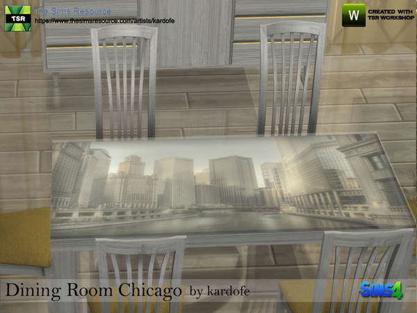 Dining Room Chicago by kardofe at TSR image 628 Sims 4 Updates