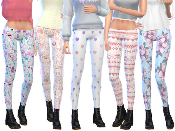 Leggings Pack Eight by Wicked Kittie at TSR image 634 Sims 4 Updates