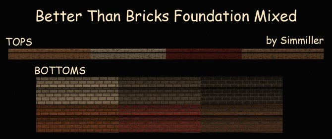 Sims 4 Better Than Bricks Foundation Mixed by Simmiller at Mod The Sims