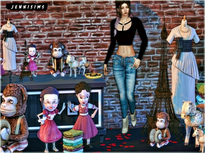 Set Vol 77 Decoratives and Eiffel Tower 8 Items at Jenni Sims image 646 670x502 Sims 4 Updates