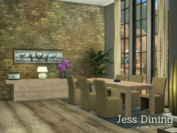 Jess Dining by Angela at TSR image 650 Sims 4 Updates