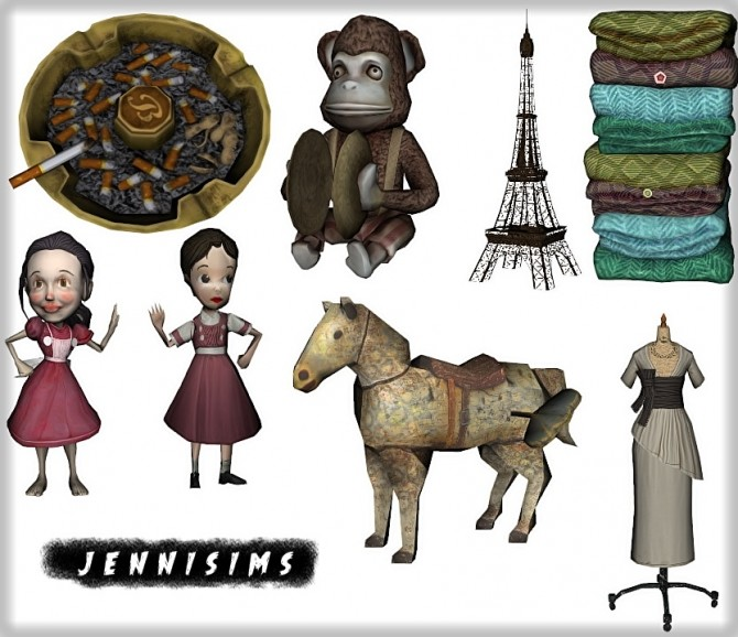 Set Vol 77 Decoratives and Eiffel Tower 8 Items at Jenni Sims image 656 670x578 Sims 4 Updates