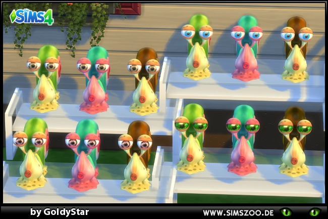 Sims 4 GS80 Snails by GoldyStar at Blacky's Sims Zoo